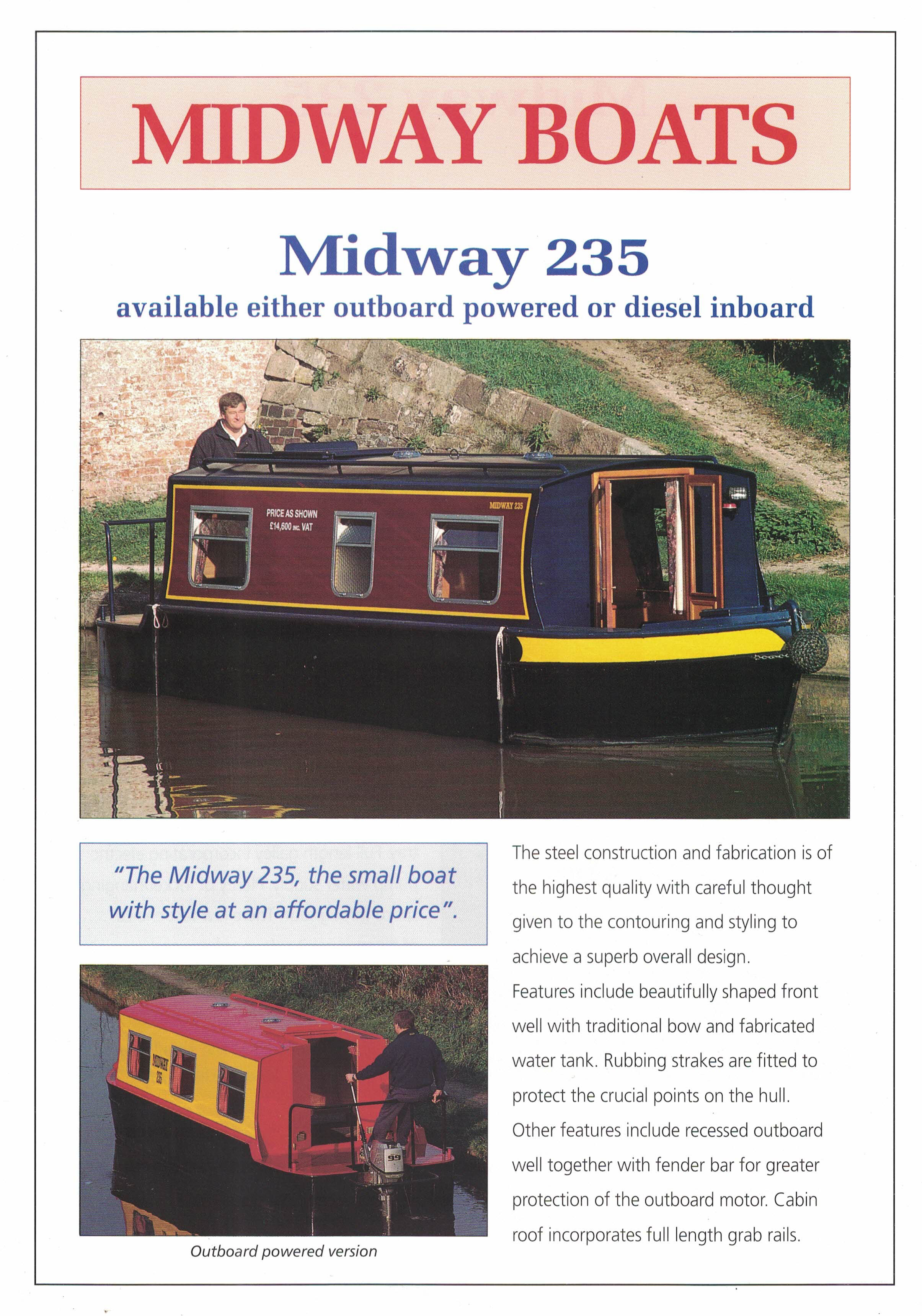Midway 235 early edition Sales Brochure