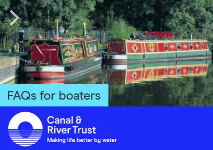 Canal River Trust Coronavirus FAQs for boaters