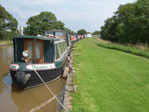 Shropshire Union Middlewich moorings available